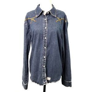 Levi's Signature Embroidered Denim Western Shirt